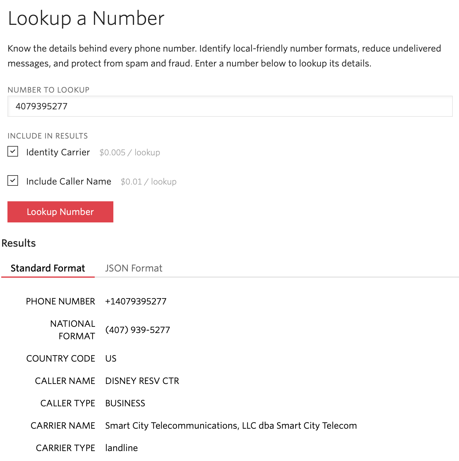 Look Up Number >> Using Twilio Lookup Api For Phone Number Validation And